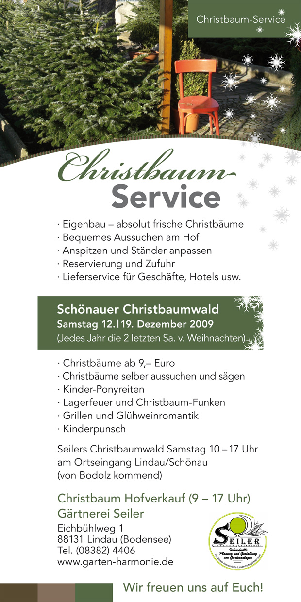»Flyer Christbaumservice«